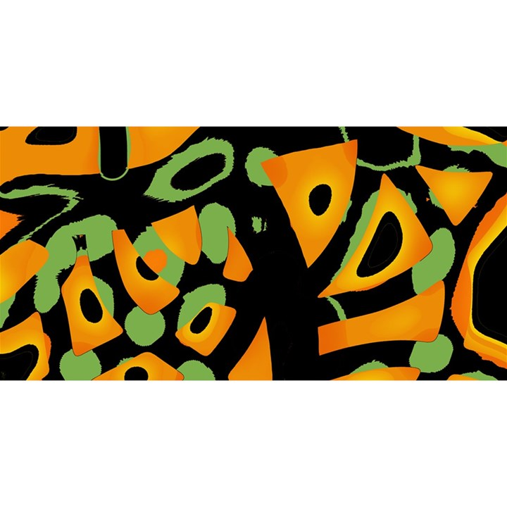 Abstract animal print YOU ARE INVITED 3D Greeting Card (8x4)