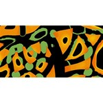 Abstract animal print YOU ARE INVITED 3D Greeting Card (8x4) Back