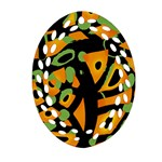 Abstract animal print Ornament (Oval Filigree)  Front