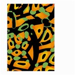 Abstract animal print Large Garden Flag (Two Sides) Back