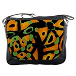 Abstract animal print Messenger Bags Front