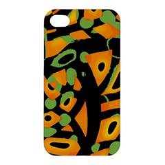 Abstract Animal Print Apple Iphone 4/4s Premium Hardshell Case by Valentinaart