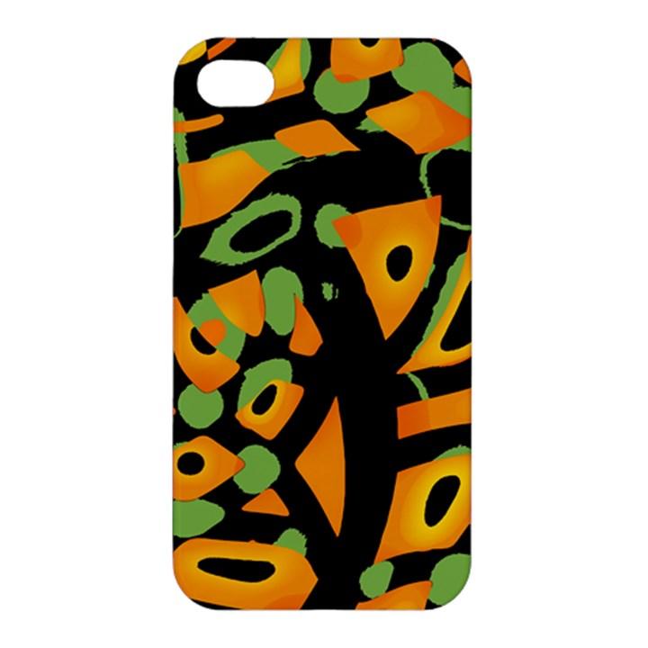 Abstract animal print Apple iPhone 4/4S Premium Hardshell Case