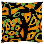 Abstract animal print Large Cushion Case (Two Sides) Back