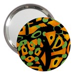 Abstract animal print 3  Handbag Mirrors Front