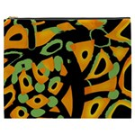Abstract animal print Cosmetic Bag (XXXL)  Front