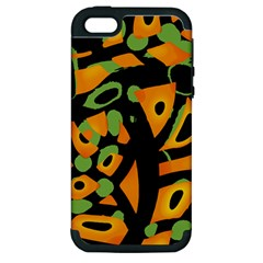 Abstract Animal Print Apple Iphone 5 Hardshell Case (pc+silicone) by Valentinaart