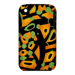 Abstract Animal Print Apple Iphone 3g/3gs Hardshell Case (pc+silicone)
