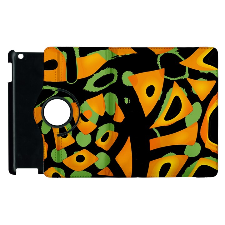Abstract animal print Apple iPad 2 Flip 360 Case