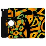 Abstract animal print Apple iPad Mini Flip 360 Case Front