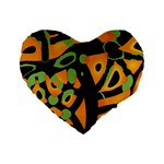 Abstract animal print Standard 16  Premium Heart Shape Cushions Front