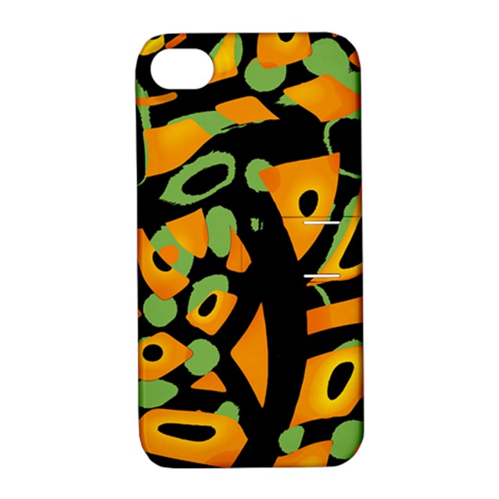 Abstract animal print Apple iPhone 4/4S Hardshell Case with Stand