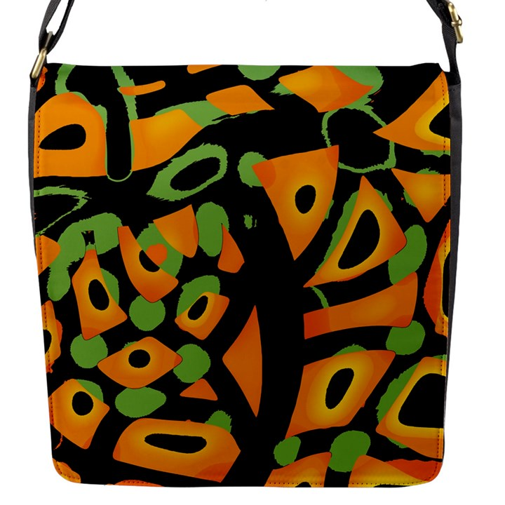 Abstract animal print Flap Messenger Bag (S)