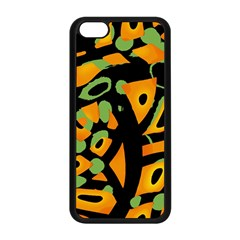Abstract Animal Print Apple Iphone 5c Seamless Case (black) by Valentinaart