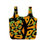 Abstract animal print Full Print Recycle Bags (S)  Front