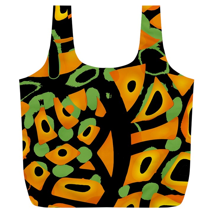Abstract animal print Full Print Recycle Bags (L)