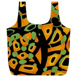 Abstract animal print Full Print Recycle Bags (L)  Back