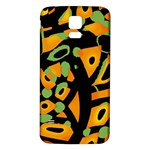 Abstract animal print Samsung Galaxy S5 Back Case (White) Front