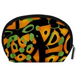 Abstract animal print Accessory Pouches (Large)  Back