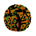Abstract animal print Standard 15  Premium Flano Round Cushions Front