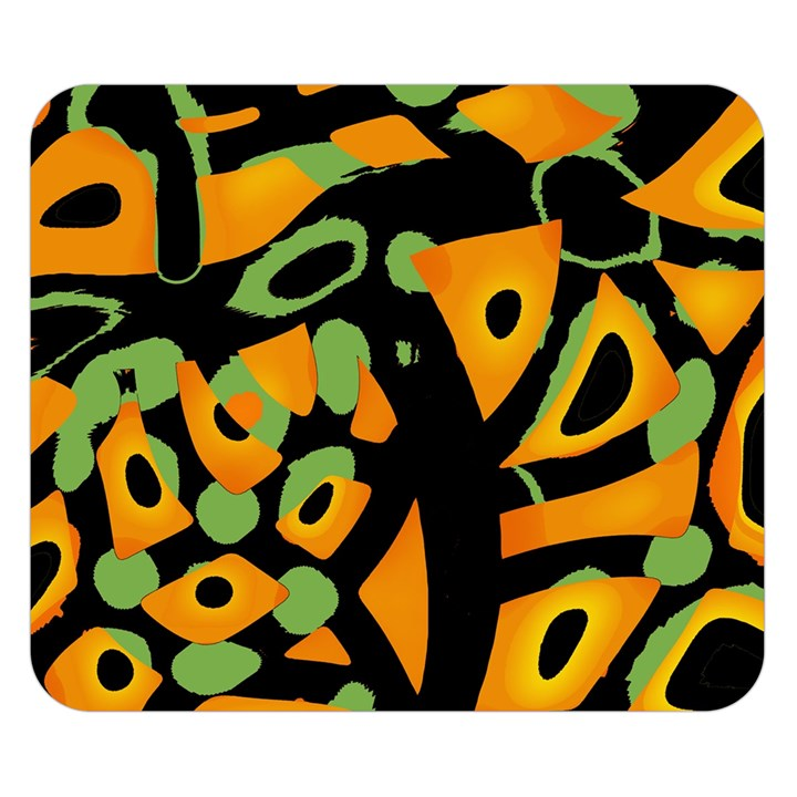 Abstract animal print Double Sided Flano Blanket (Small)