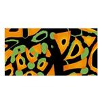 Abstract animal print Satin Shawl Front