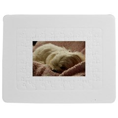Maltese Sleeping Jigsaw Puzzle Photo Stand (rectangular) by TailWags
