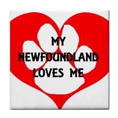 My Newfie Loves Me Tile Coasters