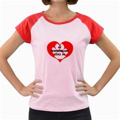 My Newfie Loves Me Women s Cap Sleeve T-Shirt