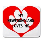 My Newfie Loves Me Large Mousepads