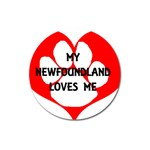 My Newfie Loves Me Magnet 3  (Round)