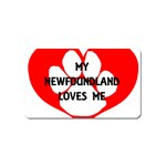 My Newfie Loves Me Magnet (Name Card)