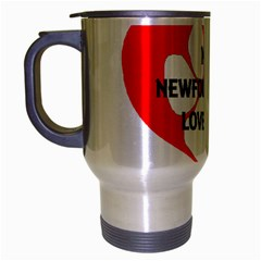 My Newfie Loves Me Travel Mug (Silver Gray)