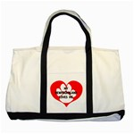 My Newfie Loves Me Two Tone Tote Bag