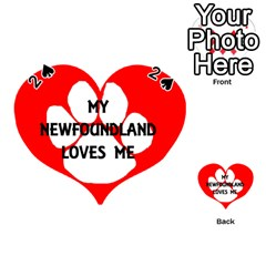 My Newfie Loves Me Playing Cards 54 (Heart)