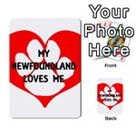 My Newfie Loves Me Multi-purpose Cards (Rectangle)