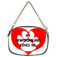 My Newfie Loves Me Chain Purses (Two Sides)