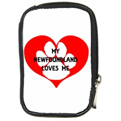 My Newfie Loves Me Compact Camera Cases