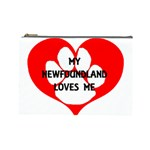 My Newfie Loves Me Cosmetic Bag (Large)