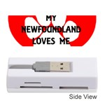 My Newfie Loves Me Memory Card Reader (Stick)