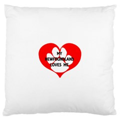 My Newfie Loves Me Large Cushion Case (Two Sides)