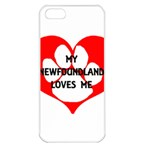 My Newfie Loves Me Apple iPhone 5 Seamless Case (White)