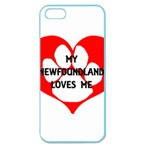 My Newfie Loves Me Apple Seamless iPhone 5 Case (Color)