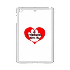 My Newfie Loves Me iPad Mini 2 Enamel Coated Cases