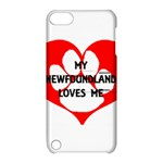 My Newfie Loves Me Apple iPod Touch 5 Hardshell Case with Stand