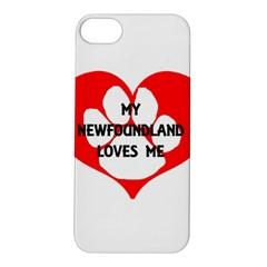 My Newfie Loves Me Apple iPhone 5S/ SE Hardshell Case