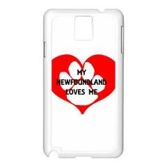 My Newfie Loves Me Samsung Galaxy Note 3 N9005 Case (White)