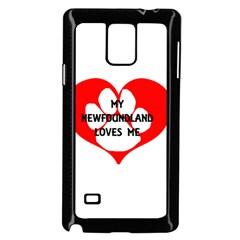 My Newfie Loves Me Samsung Galaxy Note 4 Case (Black)