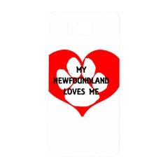 My Newfie Loves Me Samsung Galaxy Alpha Hardshell Back Case
