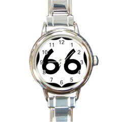 U S  Route 66 Round Italian Charm Watch by abbeyz71